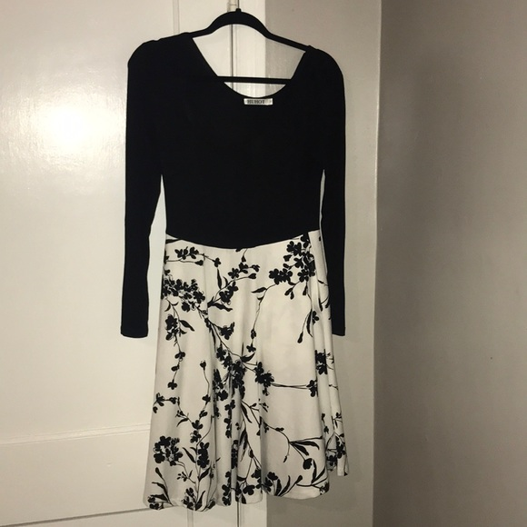 b6744a42cf31 huhot Dresses | Long Sleeve Black And White Dress | Poshmark